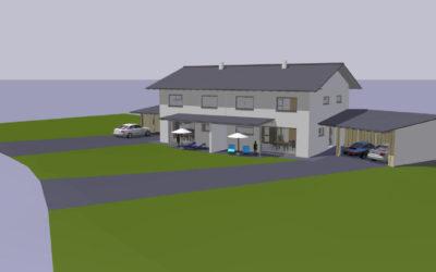 Eggenfelden – Hochwertiger Neubau von zwei tollen Doppelhaushälften – VERKAUFT!